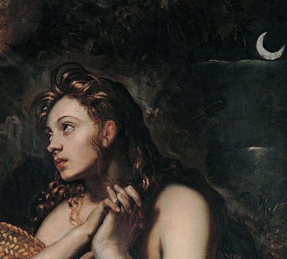 renaissance-art:Tintoretto c. 1599-1602Penitent Magdalene