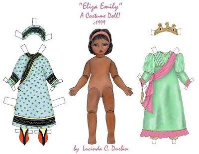 Muñecas para recortar: Muñecas de Lucinda C. Durbin