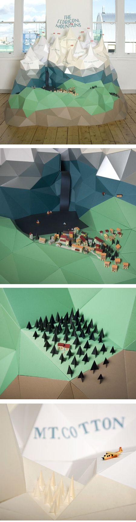 Paper Mountain Installation