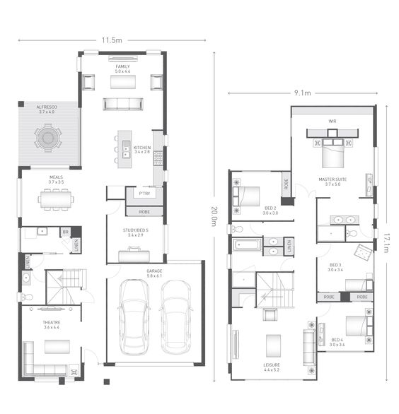 Newbury 35 plan ausbuild floor plans pinterest for Home architecture newbury