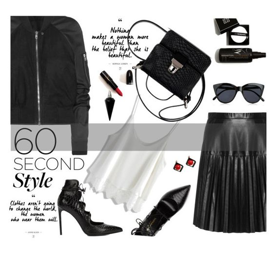 """""""In a minute"""" by nataskaz ❤ liked on Polyvore featuring Rick Owens, Studio, Chicwish, MM6 Maison Margiela, Yves Saint Laurent, Le Specs, Chicnova Fashion, BlackMoon, DRAKE and views"""