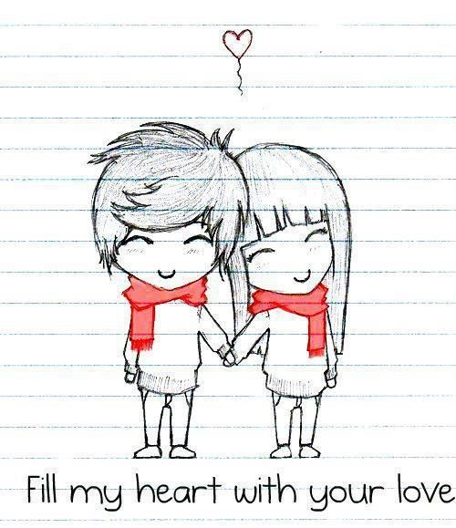 Couple drawings, Love drawings tumblr and Drawings on ...