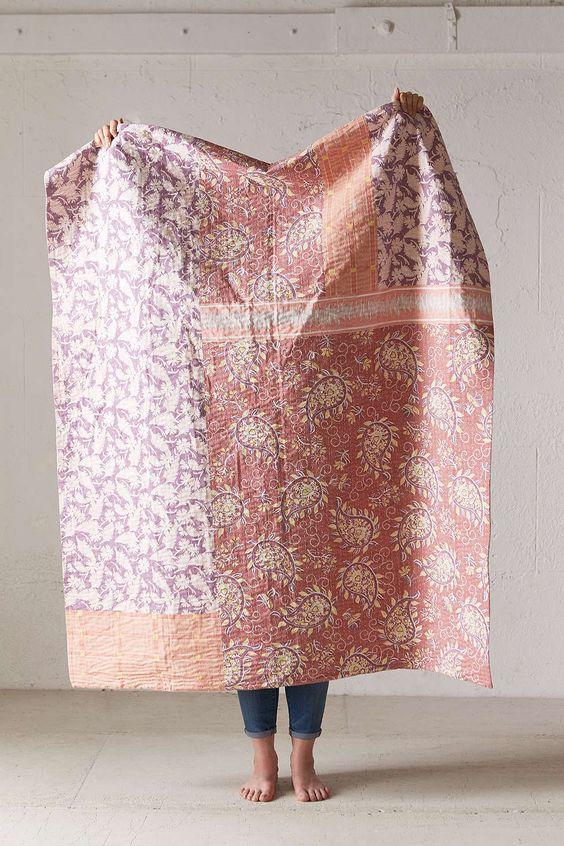 Plum & Bow Tula Kantha Throw Blanket