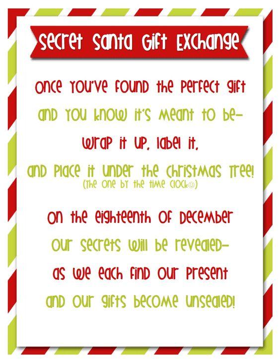 Admirable Secret Santa To Play And Gift Exchange On Pinterest Easy Diy Christmas Decorations Tissureus