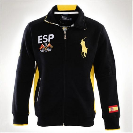 Ralph Lauren Men Black Watch Big Pony Hoody