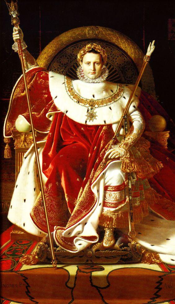 Napoleón I en el trono imperial (Jean-Auguste-Dominique Ingres - 1806). Más en www.elgrancapitan.org/foro