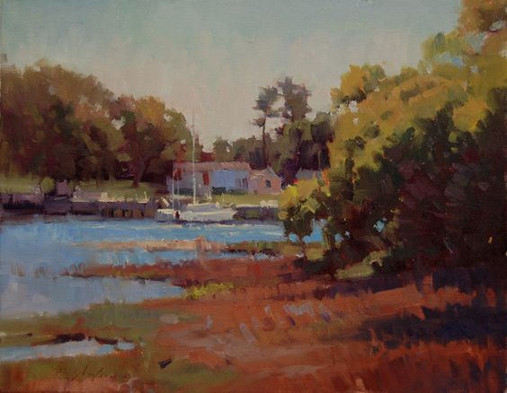 """Across the River""  Oil    14"" X 18"""