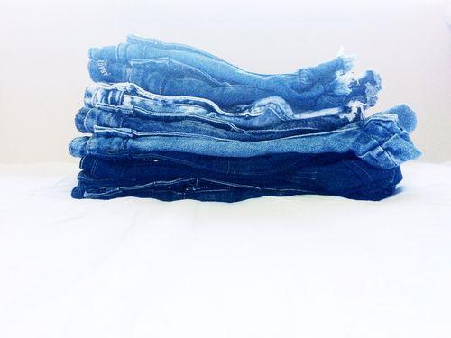 Staked denim shorts summer