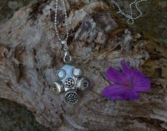 £5 gas mask necklace by shiningstarjewellery on Etsy