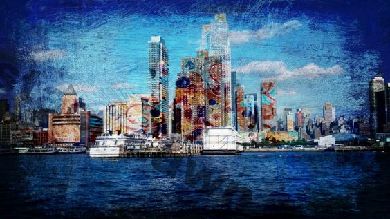 Totally in love with her cityscapes....New York , Paint the Town Staci Dawn 2013 www.stacidawnslight.com