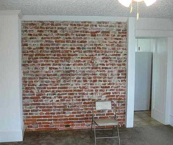 Dining Room Interior Brick Wall