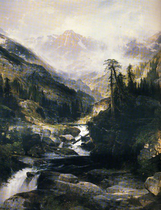 """""""Mountain Of The Holy Cross"""" by Thomas Moran"""