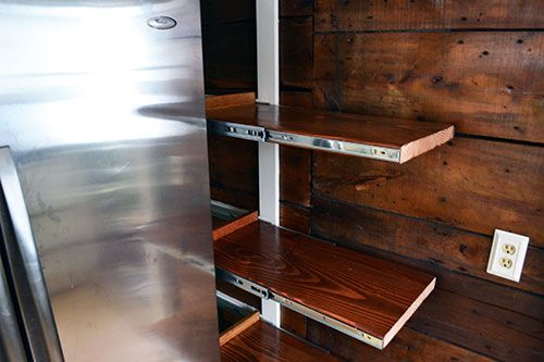 How To Install Rustic, Chunky Wood Pull Out Kitchen Pantry