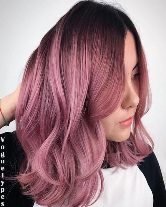 Updated Hairstyles Trends Beauty Fashion Ideas In 2020 Bold Hair Color Curly Pink Hair Dusty Rose Hair