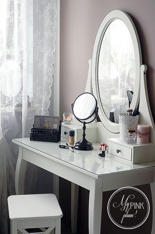 Moja romantyczna toaletka duuuu o zdj hemnes ikea my pink plum romantic home - Bedroom vanities ikea ...