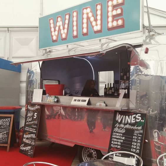 Super Vin Van Voom at  North West Food Lovers festival all set up ready to go!