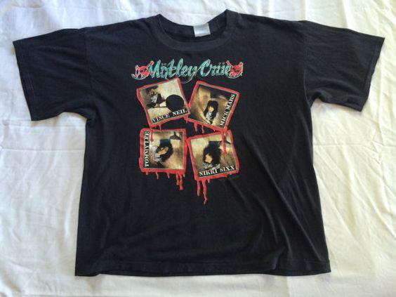 #vintage #80s XL #MOTLEYCRUE #drfeelgood #glam #KickstartMyHeart #Shirt by VintageShat