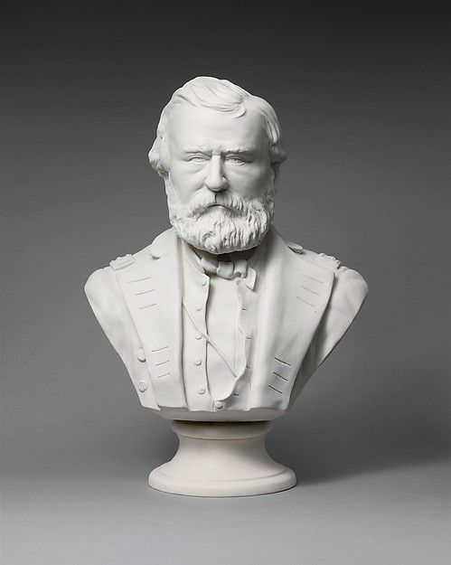 General Grant Artist:Modeled by W. H. Edge Manufacturer:Manufactured by James Carr (New York City Pottery) (1853–1888) Date:ca. 1876 Geography:Made in New York, New York, United States Culture:American Medium:Parian porcelain Dimensions:18 3/4 x 13 1/2 x 7 1/2 in. (47.6 x 34.3 x 19.1 cm)