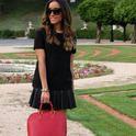 Girly in Black  , Mango em T-Shirts/Camisetas, Zara em Saltos/Plataformas, Zara em Saias, Louis Vuitton em Bolsas, Bimba & Lola em Jóias