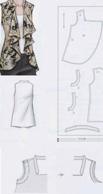 Sencillos Y Modernos Patrones De Blusas Para Damas Patrones De Blusa Patrones De Costura Patrones De Ropa