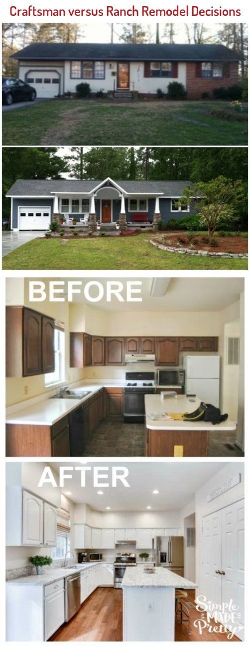 Adding A Porch To A Rambler Home Before And After I Ll Have To Remember This When I Finally Purchase A Home In 2020 Ranch Remodel House Styles Remodel
