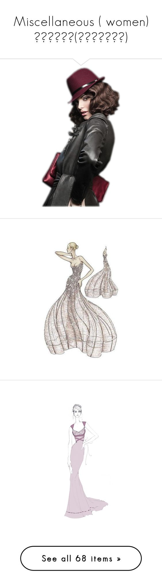 """""""Miscellaneous ( women) разное(девушки)"""" by xxxdajixxx on Polyvore featuring sketches, drawing, fashion sketches, backgrounds, models, drawings, art, fashion illustration, dresses и people"""