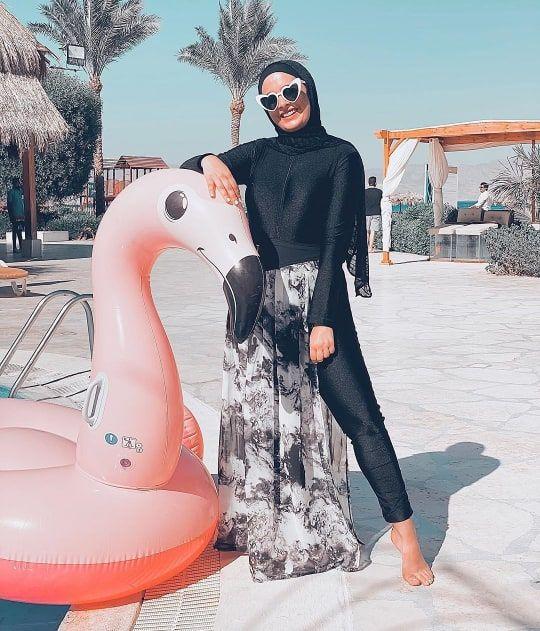 Burkini Modest Swimwear With Cover Ups Hijab Fashion Summer Modest Swimwear Burkini