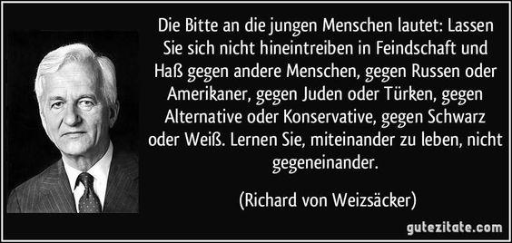 """LearnToLiveTogether,NotAgainst EachOther! http://www.bild.de/politik/inland/richard-von-weizsaecker/rede-zum-40-jahrestag-des-endes-des-zweiten-weltkrieges-39551920.bild.html """"Wir verlieren einen großartigen Menschen"""" - Gauck+das polit.Berlin würdigen ihn als herausragendes Staatsoberhaupt http://www.bild.de/politik/inland/richard-von-weizsaecker/das-deutsche-gewissen-39554174.bild.html…"""