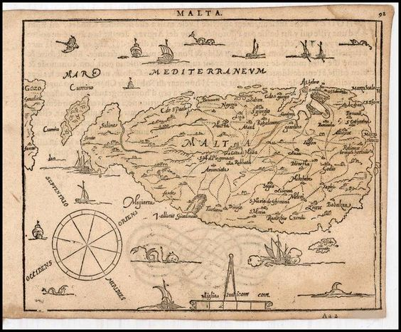 July MaltaMapMonday Brings Us A Rare Small Sixteenthcentury - Map ou us