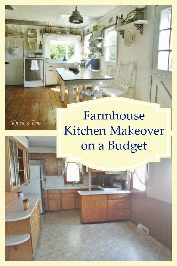Farmhouse kitchens beautiful and shelves on pinterest for Country kitchen designs on a budget