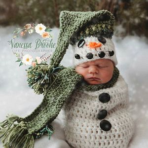 Pattern Crochet Newborn Snowman Hat Scarf And Cocoon Set Etsy Crochet Baby Costumes Newborn Crochet Patterns Crochet Newborn Outfits