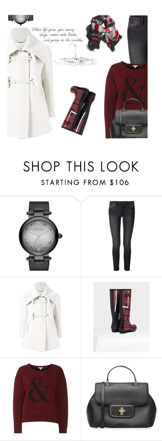 """Hunter Boots"" by carolinez1 ❤ liked on Polyvore featuring Marc by Marc Jacobs, Frame Denim, Chloé, Part Two, MICHAEL Michael Kors, Faliero Sarti, women's clothing, women's fashion, women and female"
