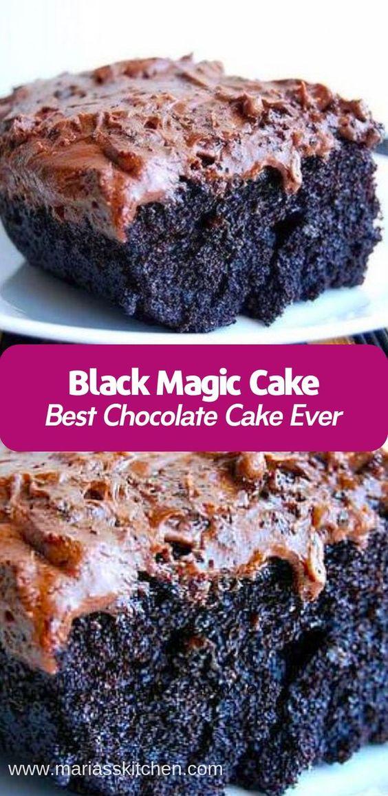Black Magic Cake Recipe - Maria's Kitchen