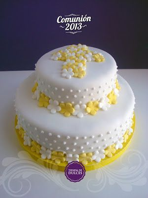 tortas de comunion blancas