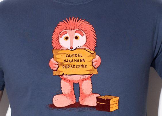 """""""¿Qué fue de...?"""" de Dr. Lupo - Consíguela en http://www.pampling.com/ficha_producto.php?id_producto=510 #sesameStreet #espinete #hedgehog #pampling #tee #tshirt #dailytee #cool #fashion #design #creative #Camisetas"""