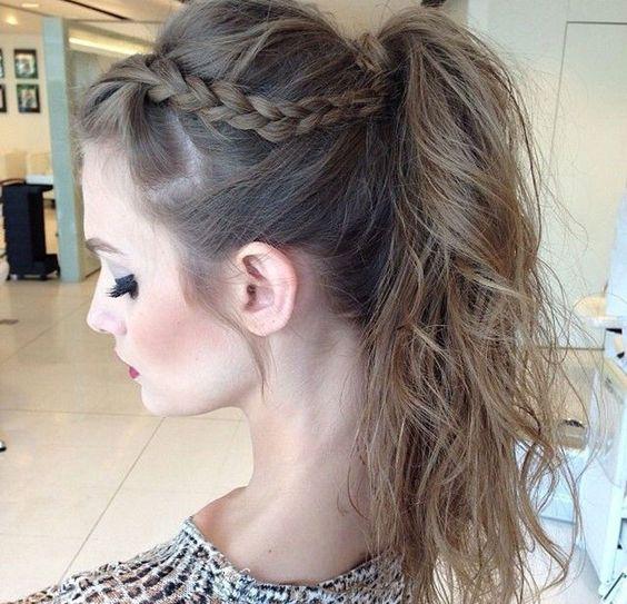 penteados com trança: