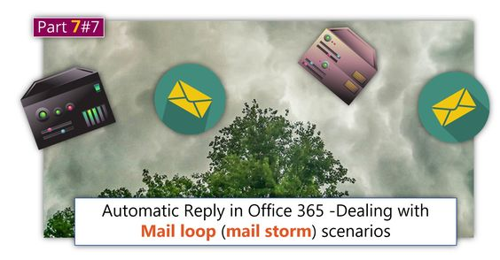 Automatic Reply in Office 365 -Dealing with mail loop (mail storm) scenarios |Part 7#7    - http://o365info.com/automatic-reply-in-office-365-dealing-with-mail-loop-mail-storm-scenarios-part-7-of-7/
