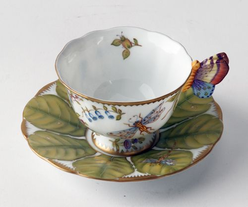 Anna Weatherley Butterfly Handle Cup & Saucer