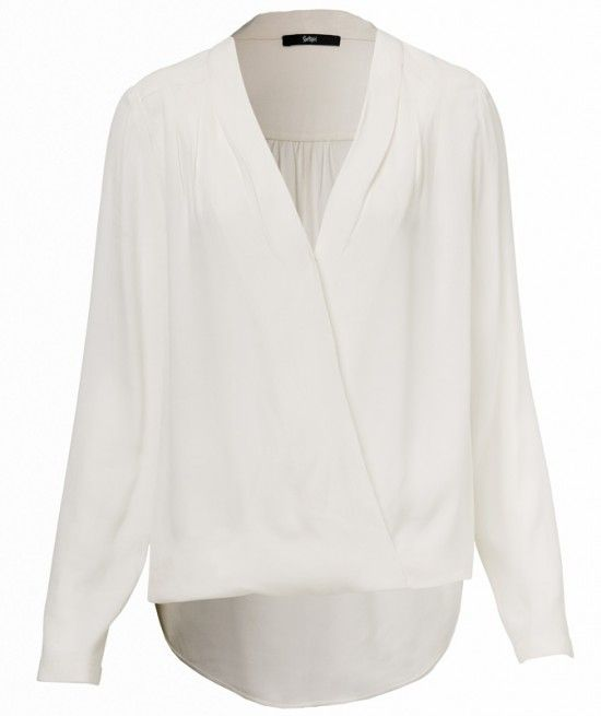 Wrap Front Blouse | WHITE | Pinterest | White blouses, Wraps and Love