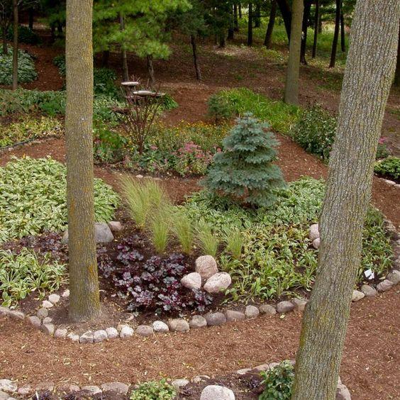 Serene backyard no grass no mowing great landscape for Garden designs no grass