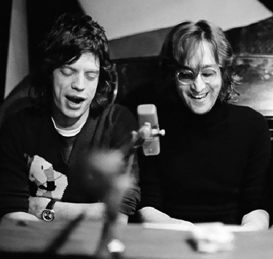 Mick Jagger & John Lennon New York City 1972 Photo by Bob Gruen