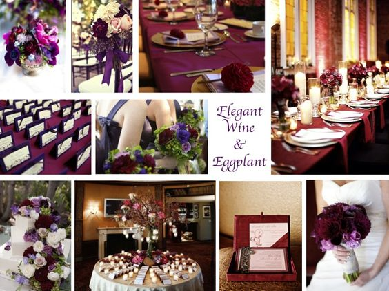 inspiration board wine eggplant bow bouquet colors and bird cages. Black Bedroom Furniture Sets. Home Design Ideas