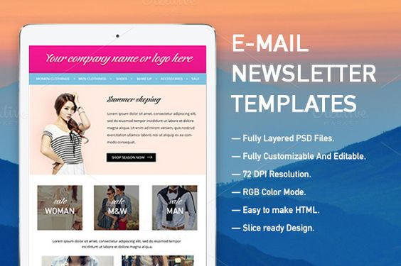 E-mail Newsletter Templates by KULISTOV on Creative Market