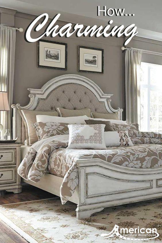 Magnolia Manor Bedroom, Afw Queen Bed Frame