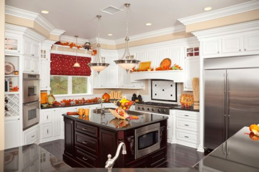 How To Decorate Your Kitchen For Thanksgiving At Ideal Home Garden A Dreamy Thanksgiving Pinterest Kitchens And Decorating