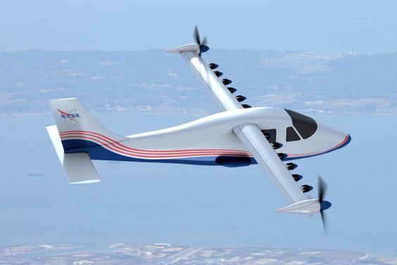 A primeira versão do avião elétrico da Nasa deve voar em um ano (NASA)