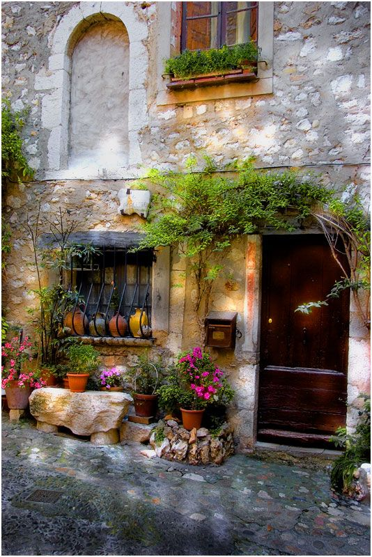 A beautiful French farmhouse stone exterior in Proence. #frenchfarmhouse #europeanfarmhouse #exterior #stone #provence #romantic
