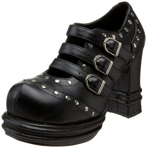 VAMPIRE-08, 3'' Platform Heel Buckle Strap Studded ShoesWomen's http://www.amazon.com/dp/B000YQY2K4/?tag=icypnt-20