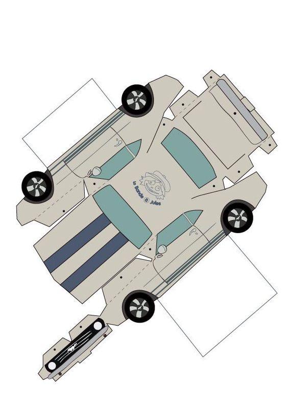 une voiture en papier mustangs. Black Bedroom Furniture Sets. Home Design Ideas