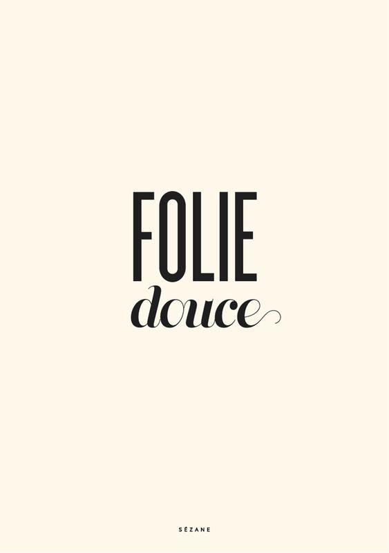Folie douce - Journal Sézane Sezane Typography Card #sezane #journalsezane